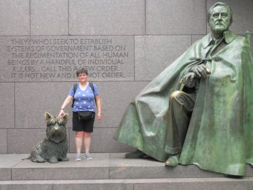 Me at the Roosevelt Memorial