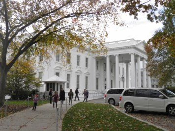 The exit path from the White House
