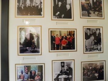 One of many framed photographs