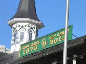 Churchill Downs on the roof