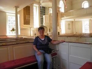 Sitting in Churhill's Seat