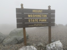 Official sign at Mount Washington