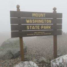 Official sign at Mount Washington