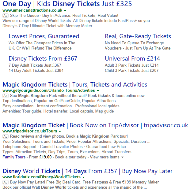Disney – why are the tickets different from the UK? – USA