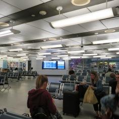 Waiting area Penn Stn