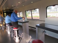 The Cafe Car seating area