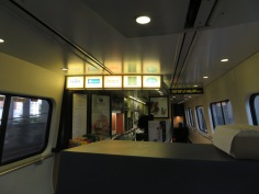 The counter in the Cafe Car