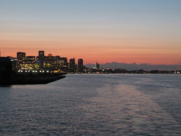 Boston in the sunset