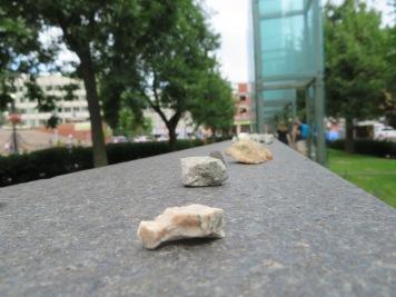 Stones from Visitors - Boston Holocaust Memorial