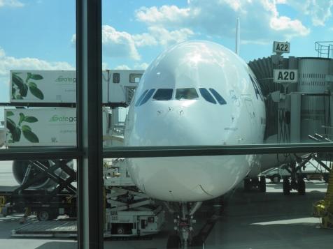 Airbus 380 at Dulles
