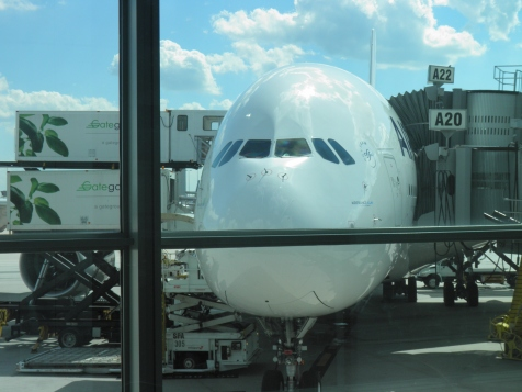 Airbus 380 at Dulles