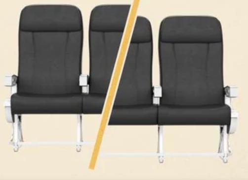 Coronavirus middle seat blocked